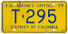 1958 Trailer plate no. T-295