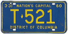 1959 Trailer plate no. T-521