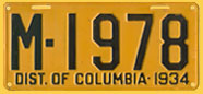 1934 passenger car plate no. M-1978