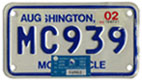 2001 Motorcycle plate no. MC939