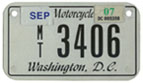 c.2004 Motorcycle plate no. MT-3406
