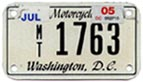 c.2003 Motorcycle plate no. MT-1763