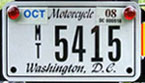 c.2006 Motorcycle plate no. MT-5415