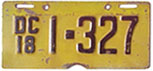 1925 motorcycle plate no. 1-730
