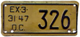 1946 (exp. 3-31-47) motorcycle plate no. 326