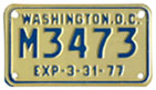 1976 (exp. 3-31-77) motorcycle plate no. M3473