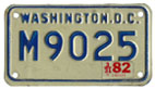 c.1978 base motorcycle plate no. M9025 validated for 1981 (exp. 3-31-82)