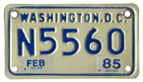 c.1978 base motorcycle plate no. N5560 validated for 1984 (exp. Feb. 1985)