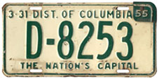 1956 (exp. 3-31-57) Dealer plate no. DA-43-75