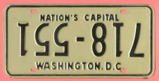 1968 plate with upside-down numbers