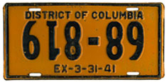 1940 plate with upside-down numbers