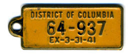 1940 (exp. 3-31-41) B.F. Goodrich key tag no. 64-937