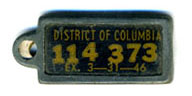 1945 (exp. 3-31-46) D.C. DAV key tag no. 114-373