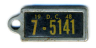 1948 (exp. 3-31-49) D.C. DAV key tag no. 7-5141