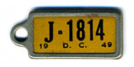 1949 (exp. 3-31-50) D.C. DAV key tag no. J-1814