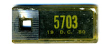 1950 (exp. 3-31-51) D.C. DAV key tag no. 5703