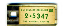 1954 (exp. 3-31-55) D.C. DAV key tag no. 2-5347