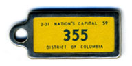 1958 (exp. 3-31-59) D.C. DAV key tag no. 355