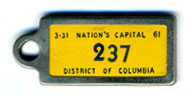 1960 (exp. 3-31-61) D.C. DAV key tag no. 237