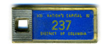 1961 (exp. 3-31-62) D.C. DAV key tag no. 237