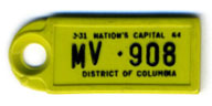 1963 (exp. 3-31-64) D.C. DAV key tag no. MV-908