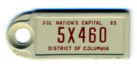 1964 (exp. 3-31-65) D.C. DAV key tag no. 5X460