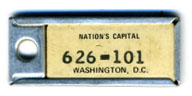 1968 (exp. 3-31-69) D.C. DAV key tag no. 626-101