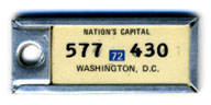 1971 (exp. 3-31-72) D.C. DAV key tag no. 577-430