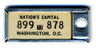1972 (exp. 3-31-73) D.C. DAV key tag no. 899-878