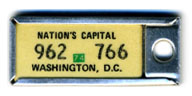 1973 (exp. 3-31-74) D.C. DAV key tag no. 962-766
