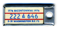 1974 (exp. 3-31-75) D.C. DAV key tag no. 222-646