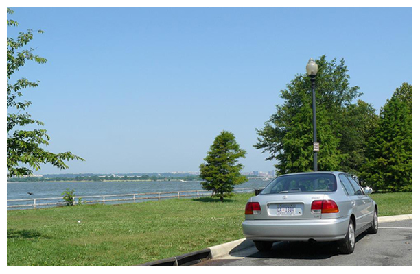 Vehicle parked in East Potomac Park on June 17, 2007.