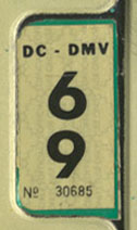 1968 (exp. 3-31-69) sticker, black on white