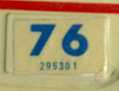 1975 (exp. 3-31-76) sticker, blue on white