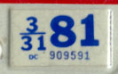 1978 (exp. 3-31-79) sticker, black on white