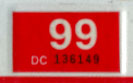 1998 (expires 1999) sticker, white on red