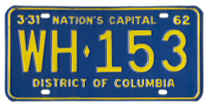 1961 Passenger plate no. WH-153